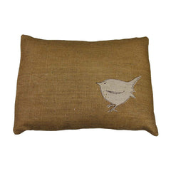 Helkat Little Wren Cushion Hessian - 43x33cm