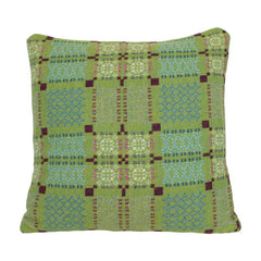 Melin Tregwynt Cushion Large 45x45cm Knot Garden Green