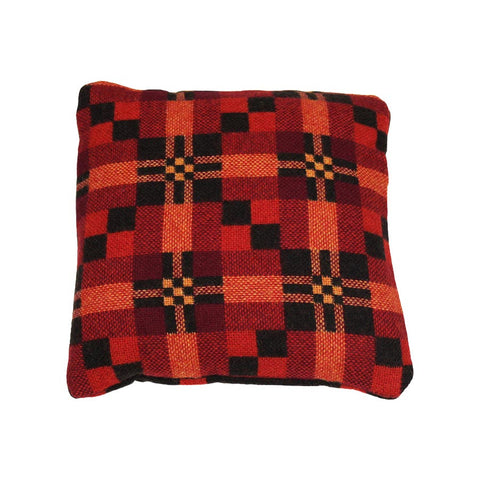 Melin Tregwynt Cushion Small 30x30cm St Davids Cross Ember