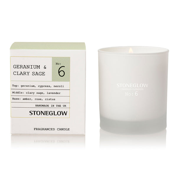 Stoneglow Modern Apothecary No6 Candle - Geranium & Clary Sage