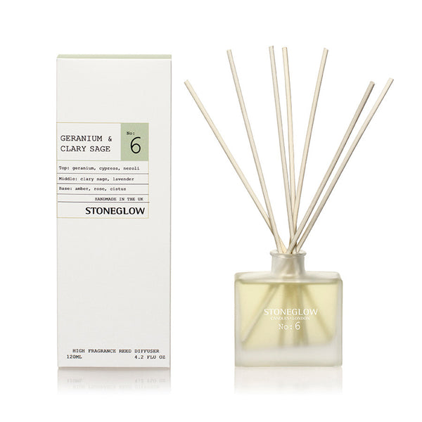 Stoneglow Modern Apothecary No6 Diffuser - Geranium & Clary Sage