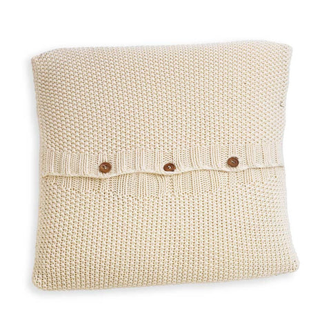 Nkuku Moss Stitch Cushion Cream - 40x40cm