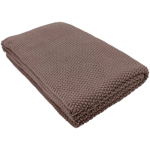 Nkuku Moss Stitch Cotton Throw Pewter