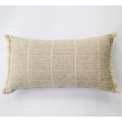 Raine and Humble Brushed Wild Stripe Cushion Stone 30x60cm