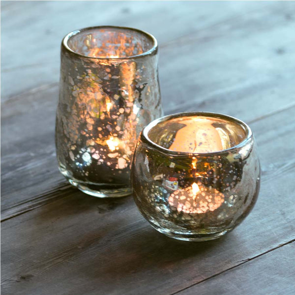 Nkuku Rustic Gold Tea Light Holder