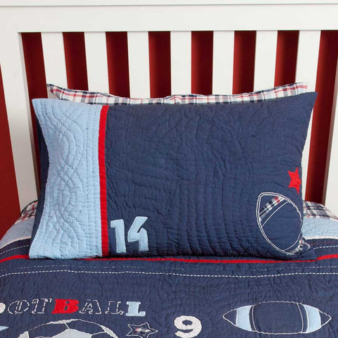 Sports Quilted Pillowcase