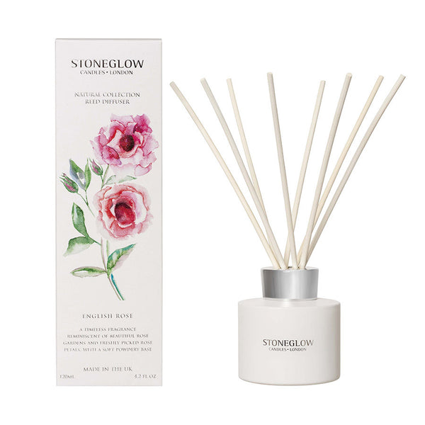 Stoneglow Botanicals Reed Diffuser - English Rose
