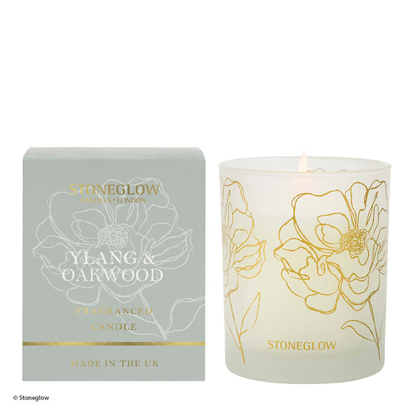 Stoneglow Day Flower New Candle - Ylang & Oakwood