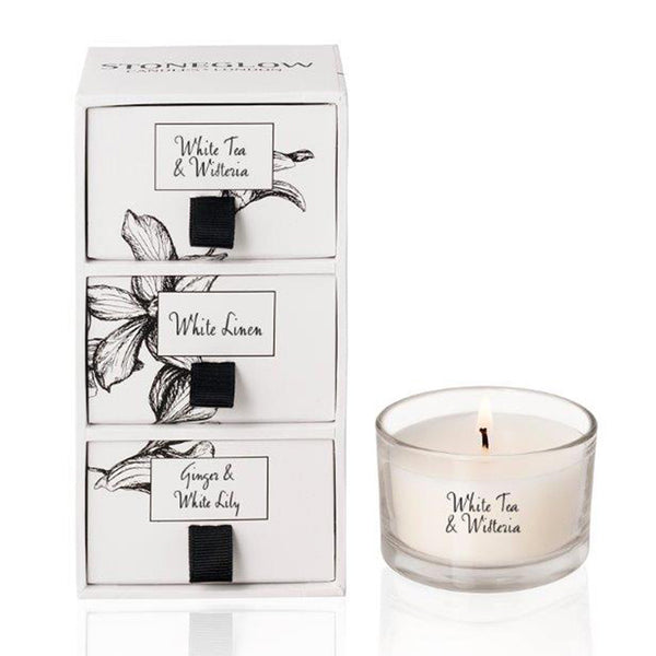 Stoneglow White Orchid Candle Gift Set - Favourite Fragrances