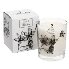 Stoneglow White Orchid Candle - Ginger & White Lily