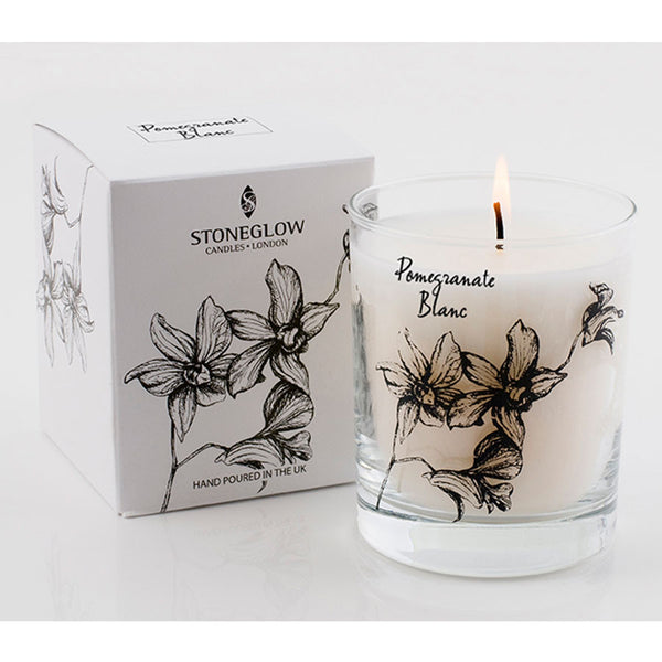 Stoneglow White Orchid Candle - Pomegranate Blanc