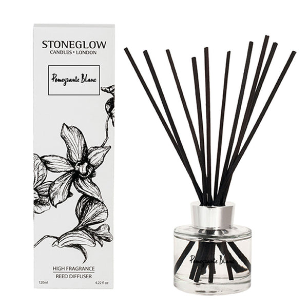Stoneglow White Orchid Reed Diffuser - Pomegranate Blanc