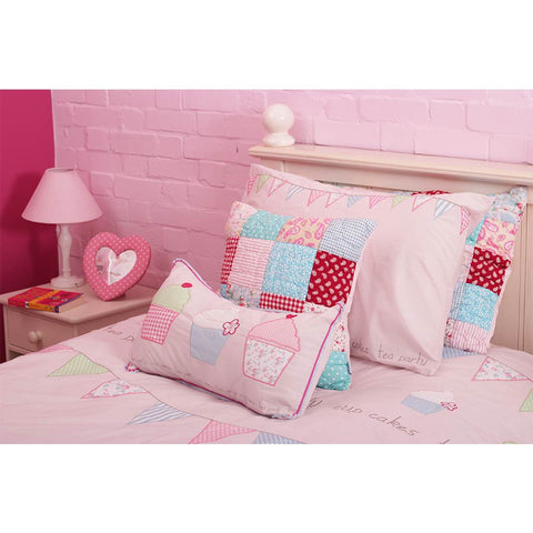 Matilda Quilted Patchwork Cushion 40cm x 40cm
