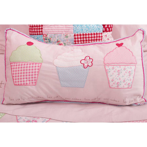 Tea Party Cupcake Cushion 30cm x 50cm