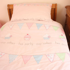 Tea Party Cupcake Duvet Set - Cot Bed