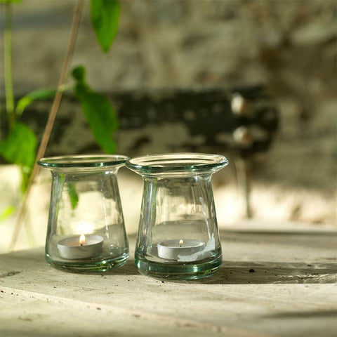 Nkuku Tia Tea Light Holder - Clear