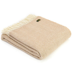 Tweedmill Throw Beehive Beige