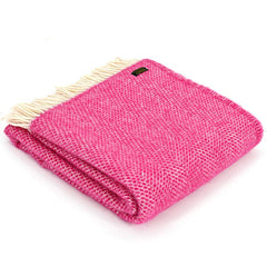 Tweedmill Throw Beehive Cerise