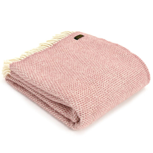 Tweedmill Throw Beehive Dusky Pink