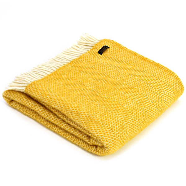Tweedmill Throw Beehive Yellow