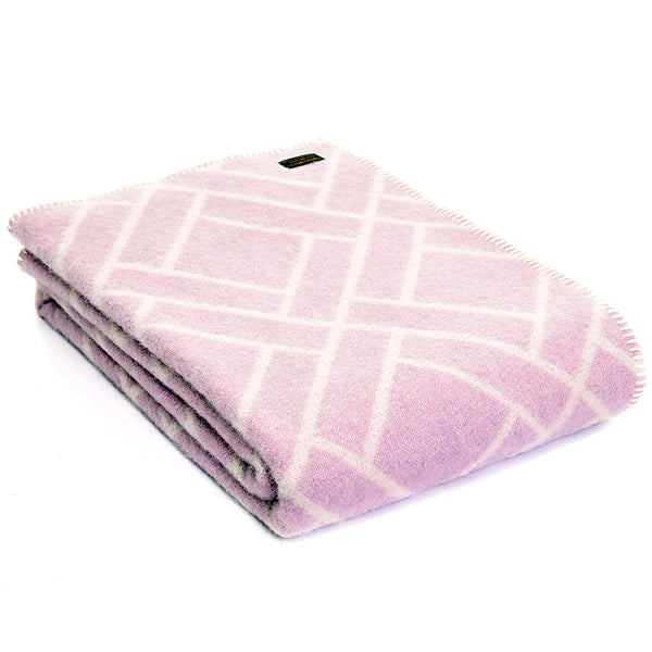 Tweedmill Throw Brick Jacquard - Lilac