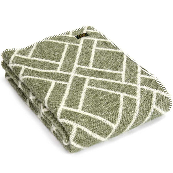 Tweedmill Throw Brick Jacquard - Sage
