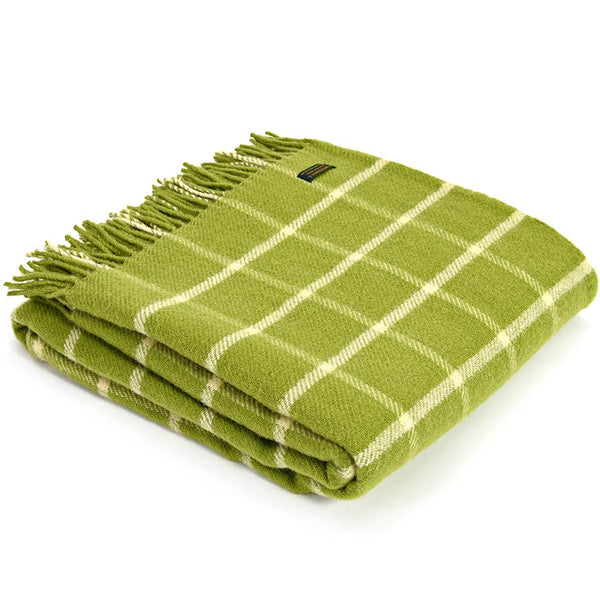 Tweedmill Throw Checkered Check Avocado