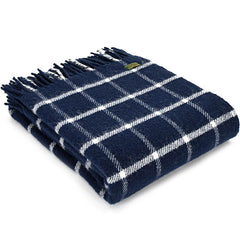 Tweedmill Throw Checkered Check Navy