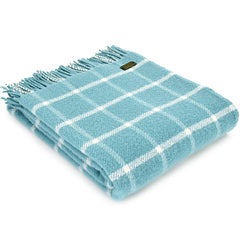 Tweedmill Throw Checkered Check Spearmint