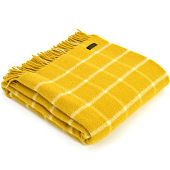 Tweedmill Throw Checkered Check Yellow