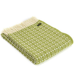 Tweedmill Throw Cobweave Cosy Green