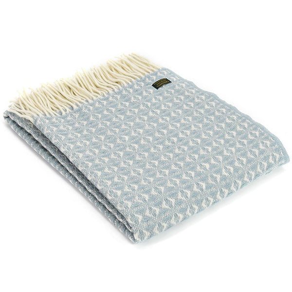 Tweedmill Throw Cobweave Duck Egg