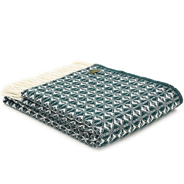 Tweedmill Throw Cobweave Emerald