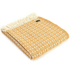 Tweedmill Throw Cobweave English Mustard