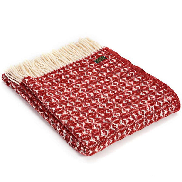 Tweedmill Throw Cobweave Red