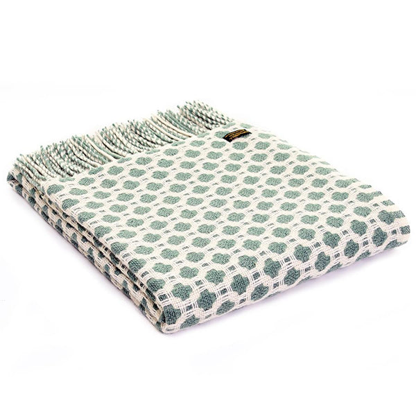 Tweedmill Throw Crossroads Sea Green