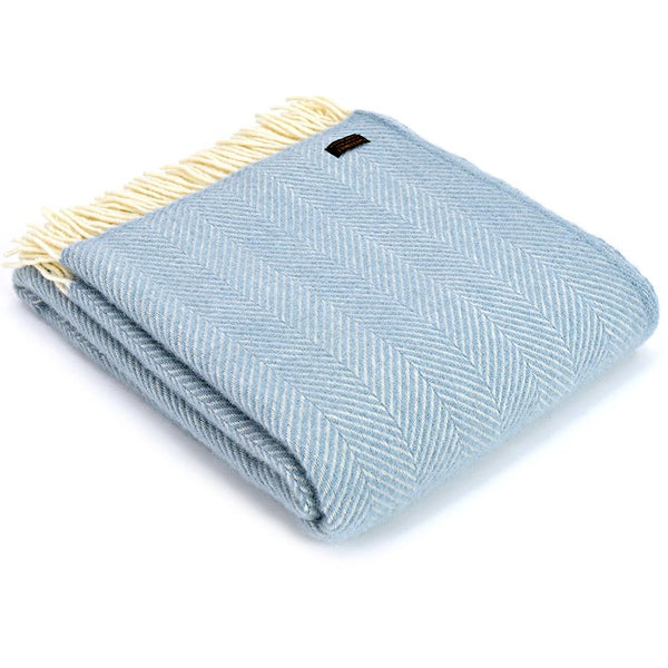Tweedmill Throw Fishbone Duck Egg