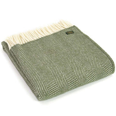 Tweedmill Throw Fishbone Olive
