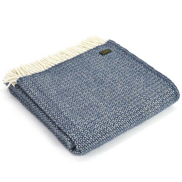 Tweedmill Throw Illusion Blue Slate