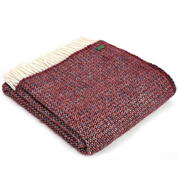 Tweedmill Throw Illusion Crimson Blue
