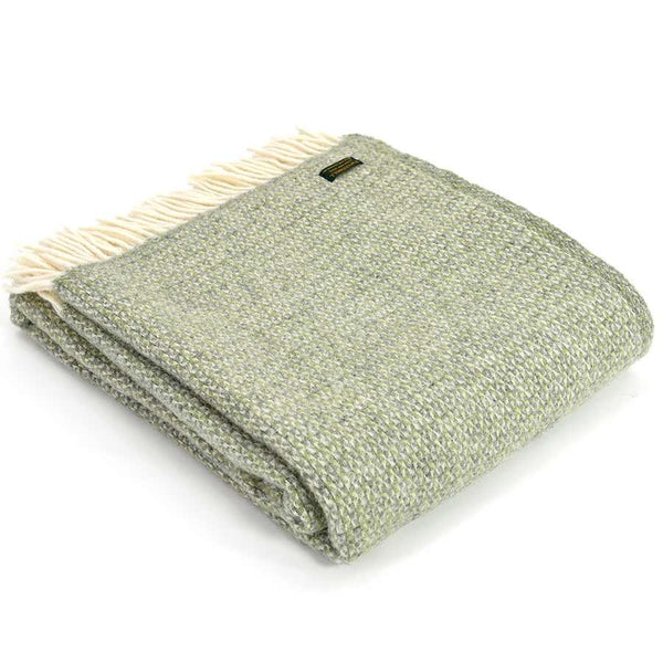 Tweedmill Throw Illusion Green Grey