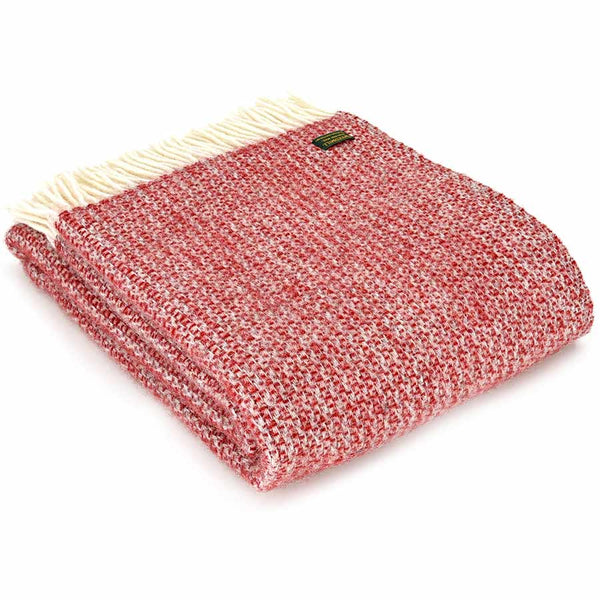 Tweedmill Throw Illusion Red Silver