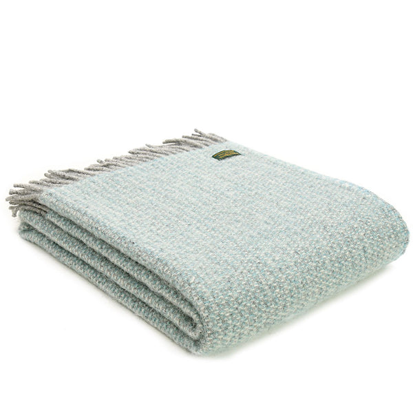 Tweedmill Throw Illusion Spearmint - Grey