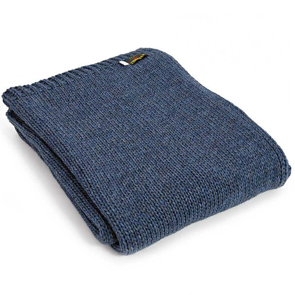 Tweedmill Throw Knitted Alpaca Blue Slate