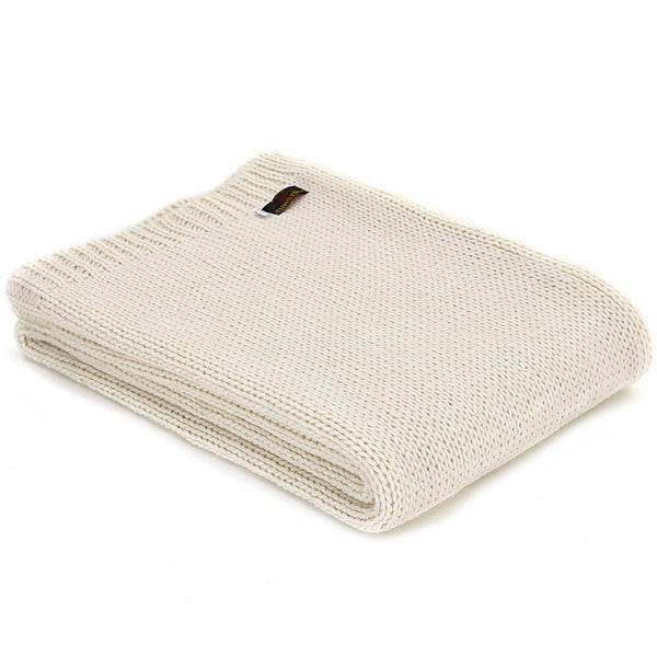 Tweedmill Throw Knitted Alpaca Cream