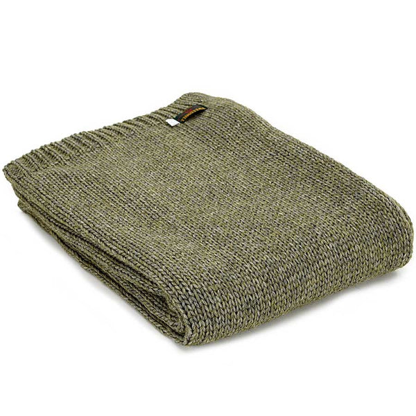 Tweedmill Throw Knitted Alpaca Green