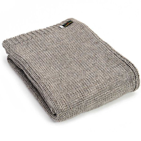 Tweedmill Throw Knitted Alpaca Natural