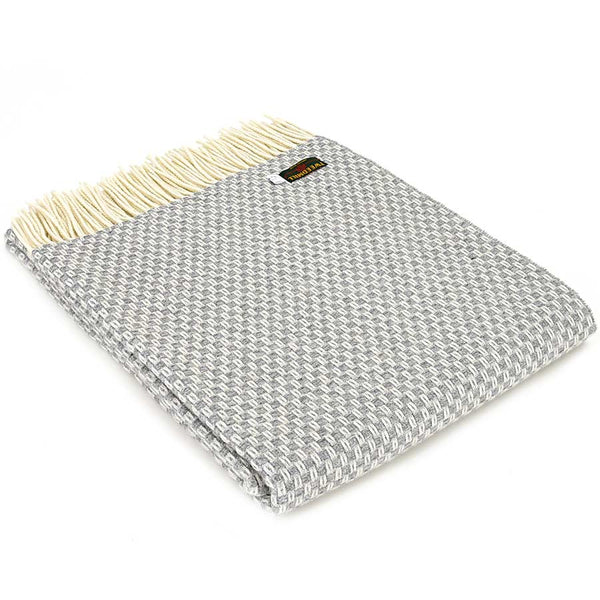 Tweedmill Throw Merino Willow - Grey