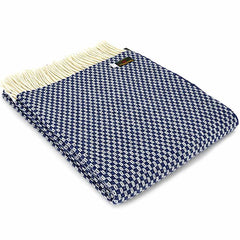 Tweedmill Throw Merino Willow - Navy