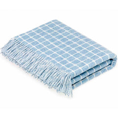 Bronte By Moon Athens Aqua Lambswool Throw